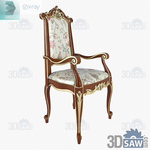 Armchair - Baroque Decor - Vintage Furniture - MX-485
