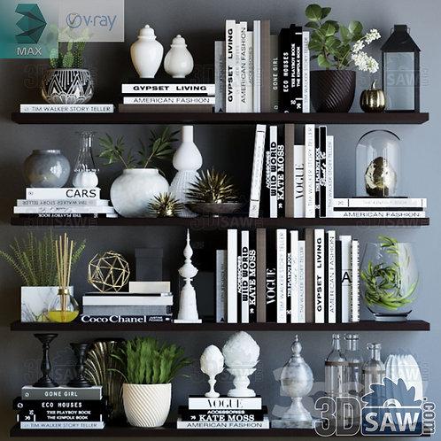 Bookshelf - Book Decoration - MX-0000285