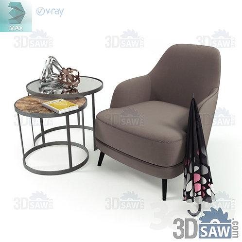 Armchair - Corona - Vray - MX-0000339