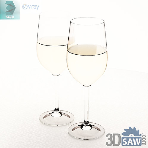 3ds Max Wine Glass - Kitchen Items - 3d Model Free Download