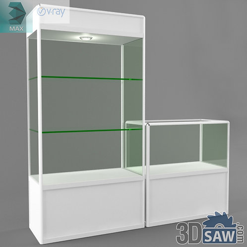 Glass Display Cabinet - Shop Furniture - MX-845