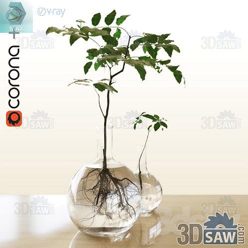 Flower Vase - Interior Plants - Planter - MX-0000320