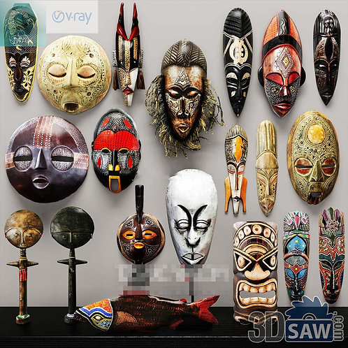 3d Interior Design - Mask Decor - 3d Model Free Download