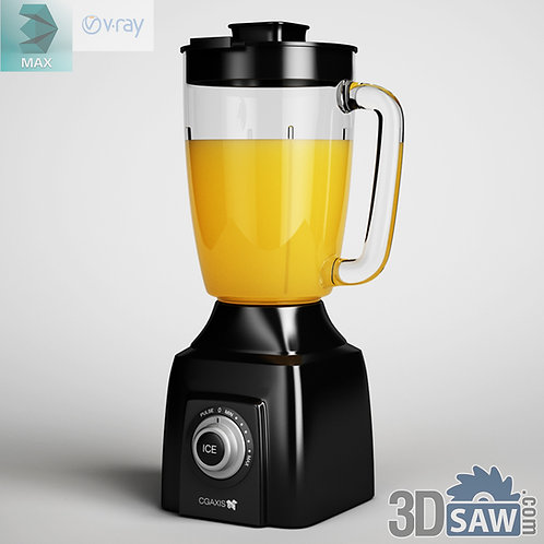 3ds Max Blender - Kitchen Items - 3d Model Free Download
