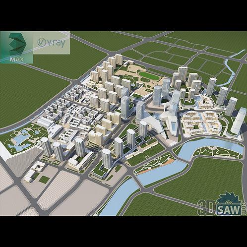 3d Exterior Facade - Architecture Master Planning - 3DS Max Landscape