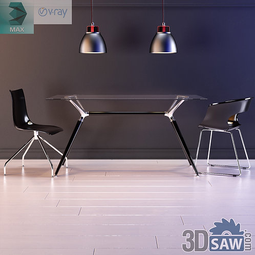 Table And Chair And Light - MX-620