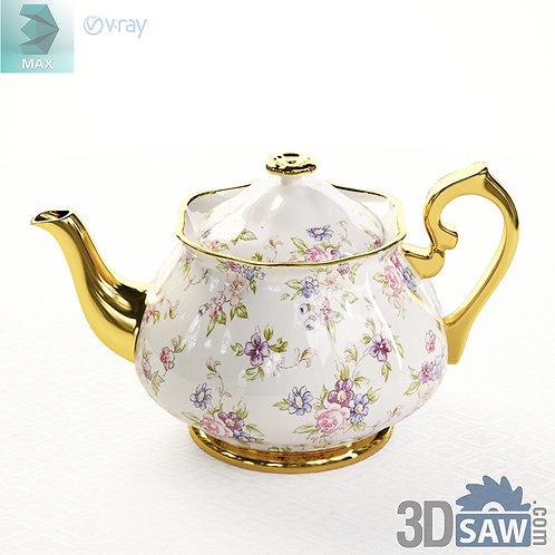 3ds Max Teapot  - Kitchen Items - 3d Model Free Download