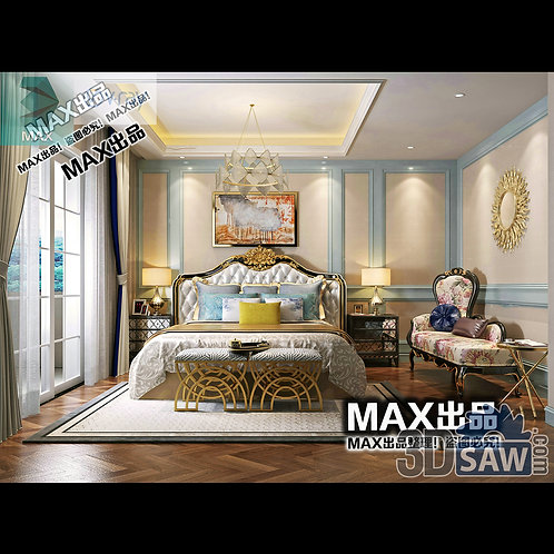 3d Model Interior Design Free Download - 3ds Max Bedroom Design - MX-910