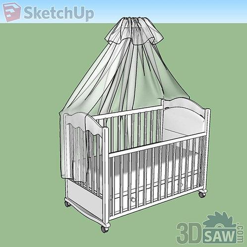 Bed - Baby Bed - Cradle - SU-0000050