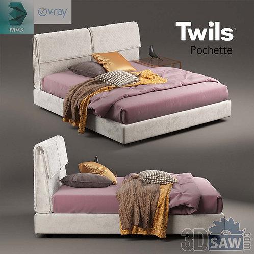 Bed Model - Bedroom Item Decor - MX-0000107