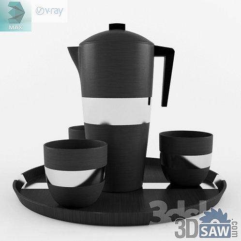 3ds Max Tea Set - Kitchen Items - 3d Model Free Download