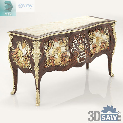 Mother Of Pearl Chest Of Drawers - Baroque Vintage Furniture - MX-558