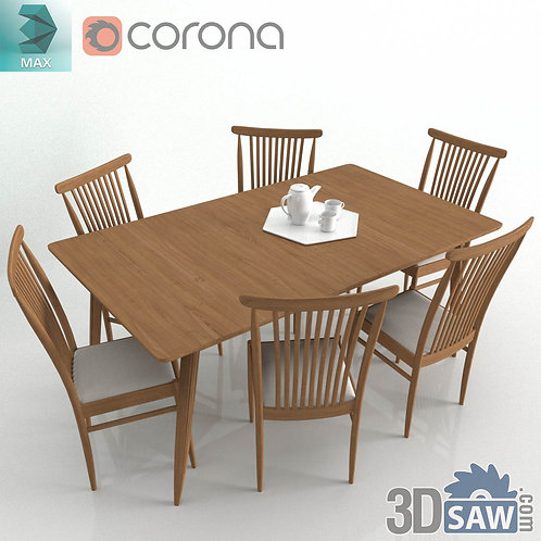 Table And Chairs Set - MX-0000185