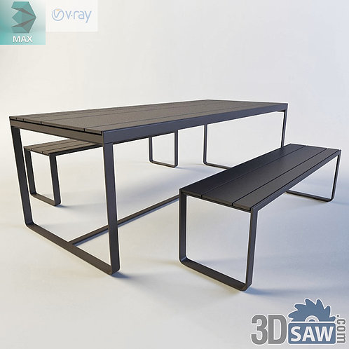 3ds Max Table And Chairs Model - 3d Model Free Download - MX-1152