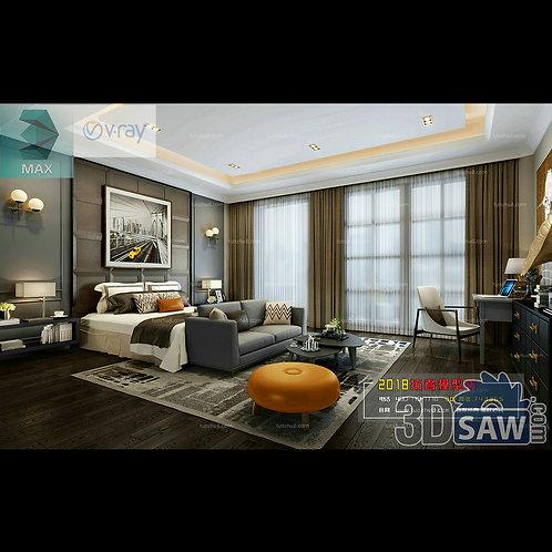 3d Model Interior Design Free Download - 3ds Max Bedroom Design - MX-925