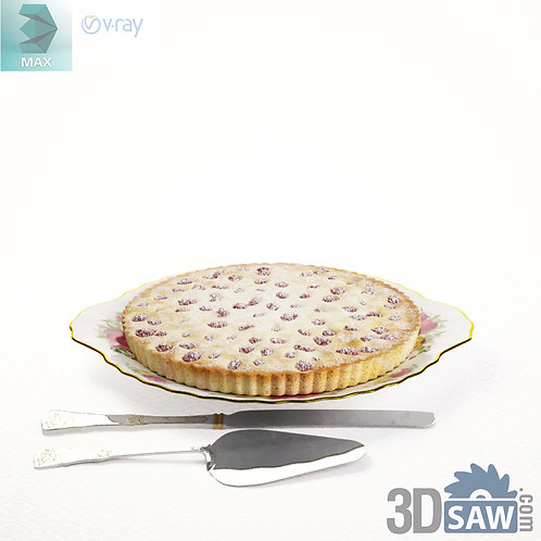 3ds Max Pie And Dish  - Kitchen Items - 3d Model Free Download