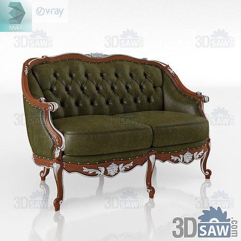 Seater sofa - Baroque Decor - Vintage Furniture - MX-0000378