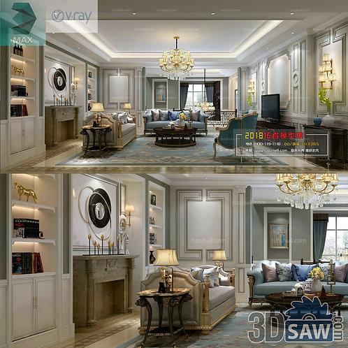 3d Model Interior Free Download - 3ds Max Living Room Decor - MX-1020