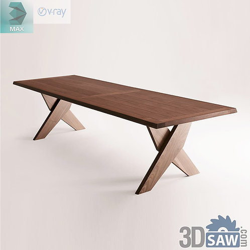 3ds Max Table Model - 3d Model Free Download - MX-967