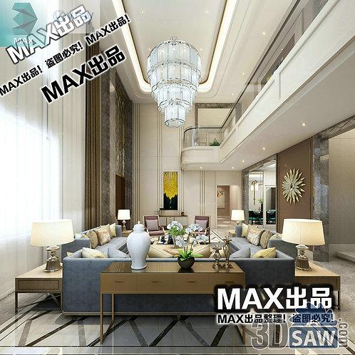 3d Model Interior Free Download - 3ds Max Living Room Decor - MX-1003