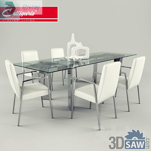 3ds Max Table And Chairs Model - 3d Model Free Download - MX-1100