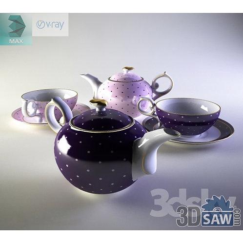 3ds Max Tea Cup Tea Pot Tea Set - Kitchen Items - 3d Model Free Download
