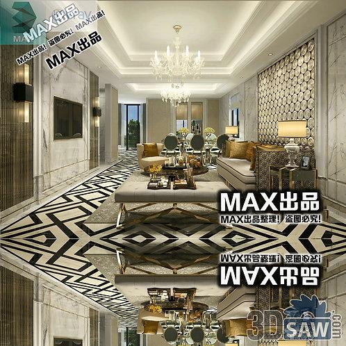 3d Model Interior Free Download - 3ds Max Living Room Decor - MX-1031