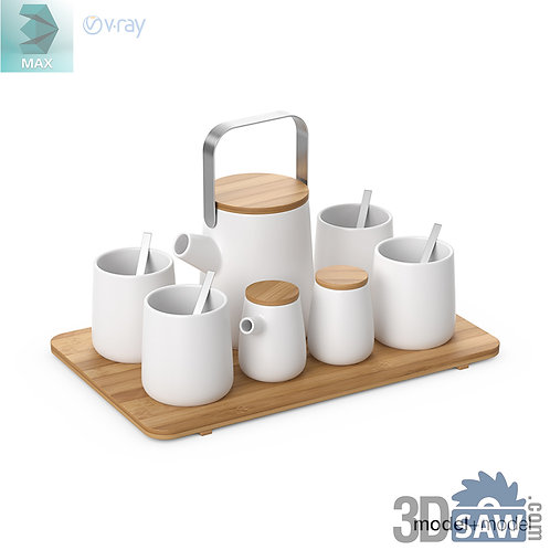 3ds Max Tea Set - Kitchen Items - 3d Model Free Download