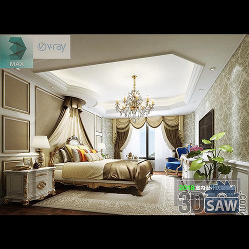 3d Model Interior Design Free Download - 3ds Max Bedroom Design - MX-942