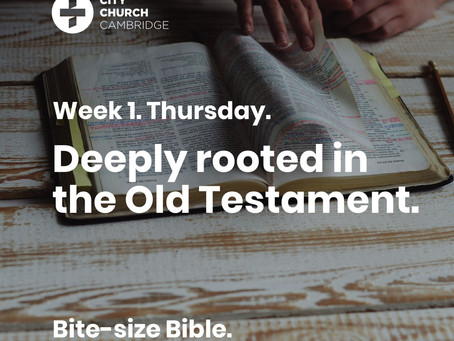 The sermons in Acts are deeply rooted in the Old Testament.
