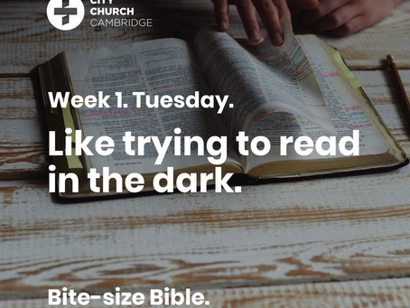 Reading the New Testament but not the Old is like trying to read in the dark.