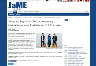 海外:Swinging Popsicle's 20th Anniversary Mini-Album Now Available in 119 Countries