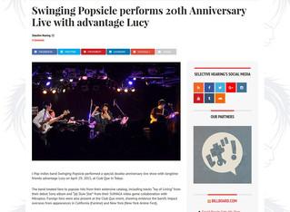 海外:Swinging Popsicle performs 20th Anniversary Live with advantage Lucy