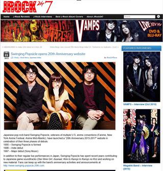 海外:Swinging Popsicle opens 20th Anniversary website