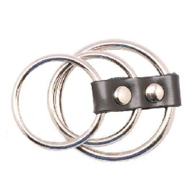 Bondage Triple Steel Cock Ring