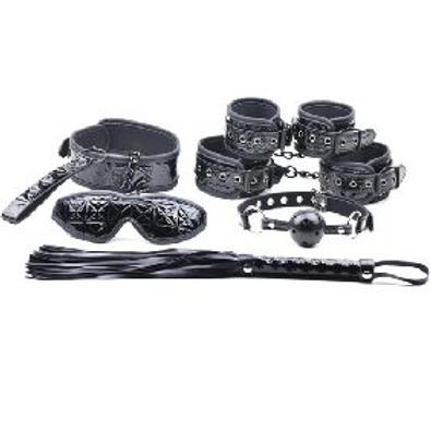Black Color Embossed S&M Kit (6 PCS)