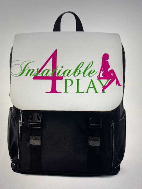 I4P Unisex Casual White Backpack