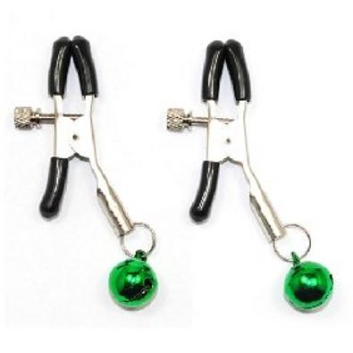 Nipple Clamps w/ Green Balls