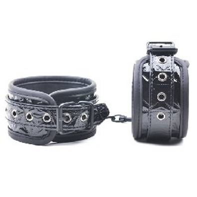 Embossed Black Ankle Cuffs