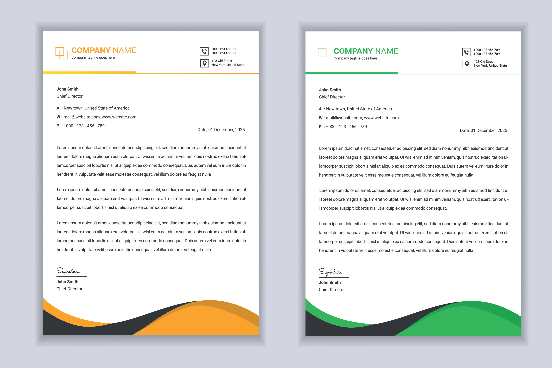 Business Letter Head Design