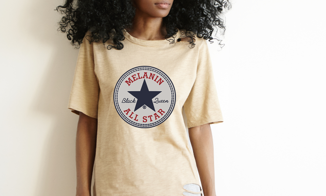 """Black Queen"" All - Star Tee"