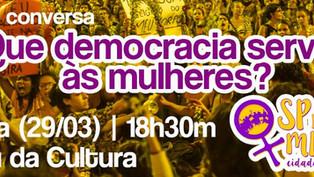 Que democracia serve às mulheres? Debate na PUC-SP