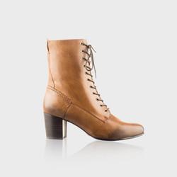 Brown Tie Up Boots