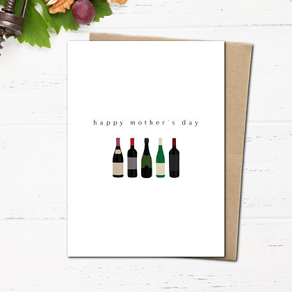 """""""Happy Mother's Day"""" (wine) - Greeting Card"""