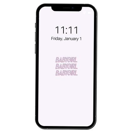 """""""Babygirl"""" - Phone Lock Screen/Wallpaper"""