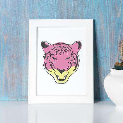"""""""Tiger Queen"""" - Digital Print, 8x10 (colour)"""