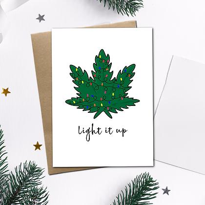 """Light It Up"" - Greeting Card"