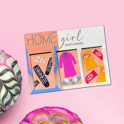 """""""HOMEgirl"""" - Magnetic Bookmarks (3-pack)"""