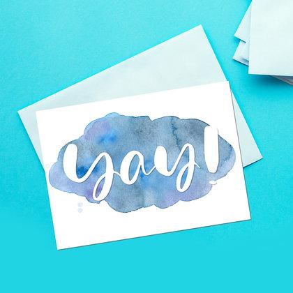"""""""Yay"""" Greeting Card"""