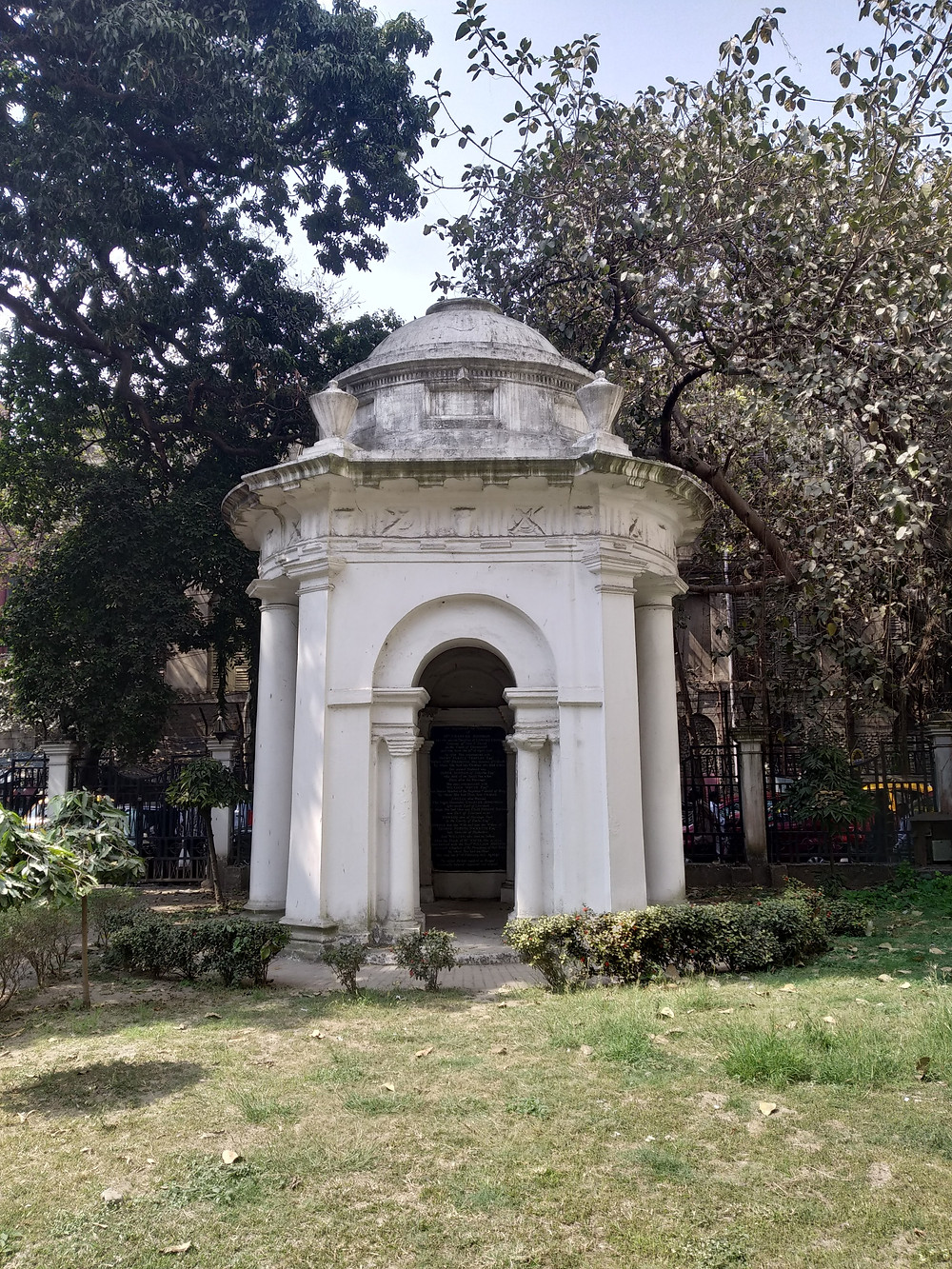 "The mausoleum of Frances ""Begum"" Johnson. Photo Copyright: Shreya Teresita"